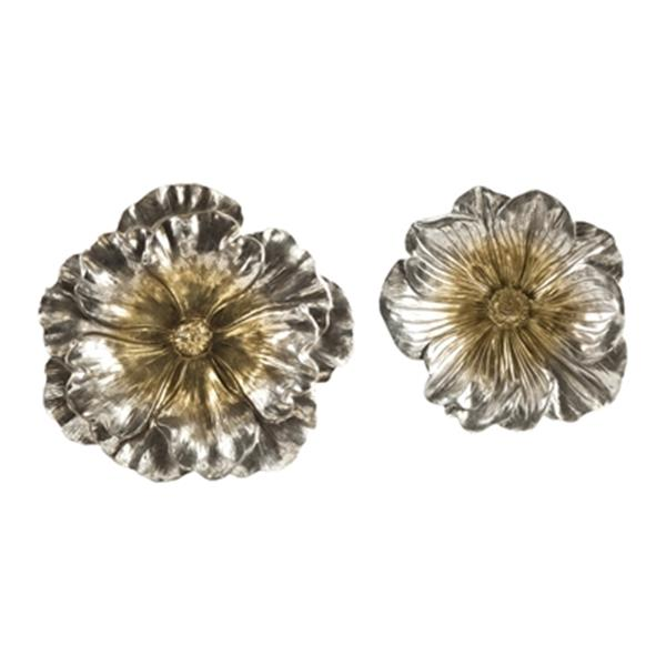 IMAX Worldwide Natalia Stick Silver Flowers (Set of 2)