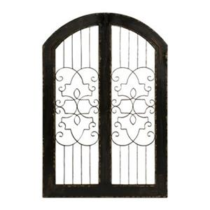 IMAX Worldwide 48-in x 32-in Amelia Iron and Wood Gate Wall Art