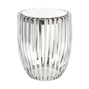 IMAX Worldwide Xanthia 21.50-in x 22-in Stainless Steel Accent Table