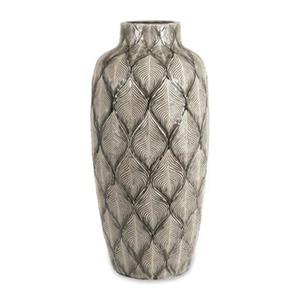 IMAX Worldwide Feathered 29-in Grey Oversize Vase