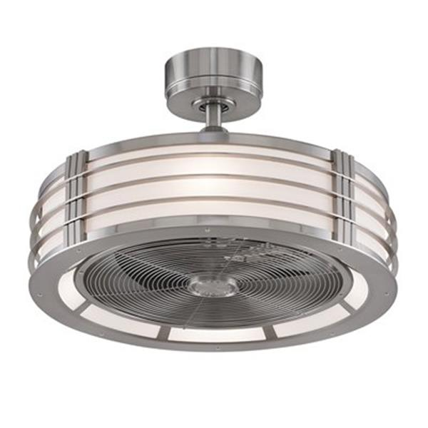 Fanimation Beckwith 12.5-in Brushed Nickel 4-Light Ceiling Fan