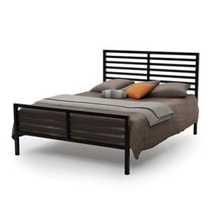 Amisco 54-in x 79.88-in Textured Dark Brown Theodore Bed