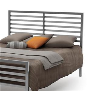 Amisco Theodore Full Glossy Grey Headboard