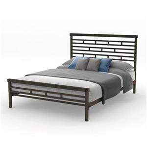 Amisco 54.50-in x 80.38-in Textured Dark Brown Highway Bed