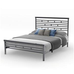 Amisco 62-in x 85.75-in Glossy Grey Highway Bed