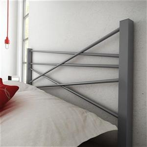 Amisco Crosston Full Grey Metal Headboard
