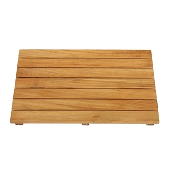 "Shower Mat - 20"" x 14"" - Teak - Brown"
