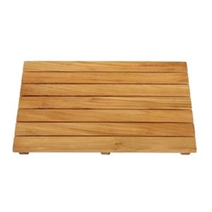 "ARB Teak & Specialties Shower Mat - 20"" x 14"" - Teak - Brown"