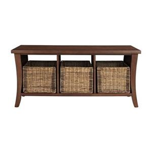 Crosley Wallis Mahogany Entryway Storage Bench
