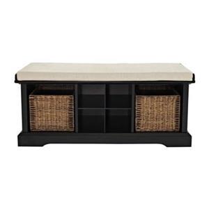 Crosley Furniture Brennan Black Entryway Storage Bench