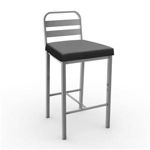 Amisco Alberto 26-in Grey and Black Bar Stool