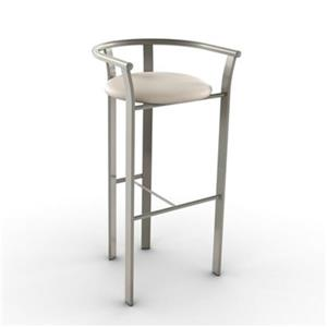 Amisco Lolo 26-in Grey and Beige Bar Stool