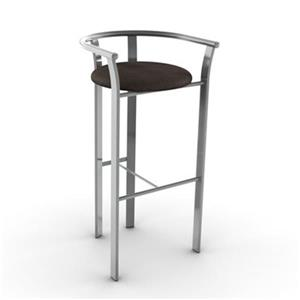 Amisco Lolo 30-in Grey and Brown Bar Stool