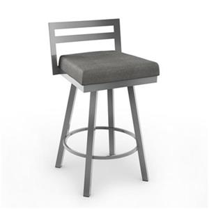 Amisco Derek 30-in Grey Swivel Bar Stool