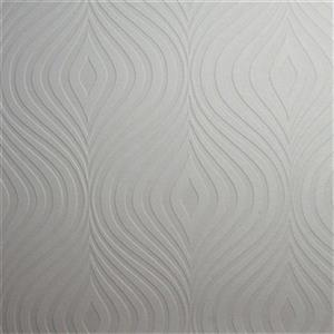 Graham & Brown Superfresco 56 sq ft White Paintable Curvy Unpasted Wallpaper