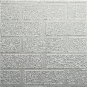 Graham & Brown Superfresco 56 sq ft White Paintable Brick Unpasted Wallpaper