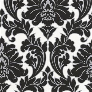 Graham & Brown 56 sq ft Black/White Poise Majestic Unpasted Wallpaper