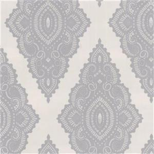 Graham & Brown 56 sq ft Pearl/Silver Fabulous Jewel Unpasted Wallpaper