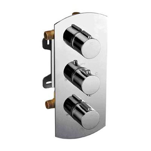 ALFI Brand Concealed 3-Way Thermostatic Valve Shower Mixer w