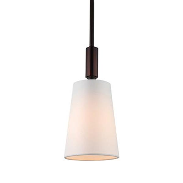 Feiss Lismore Collection 5-in x 10.88-in Oil-Rubbed Bronze Cone Mini Pendant Light