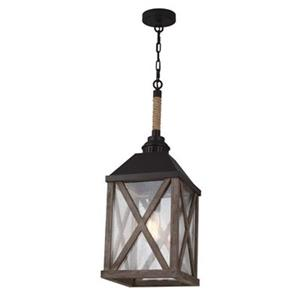Feiss Lumiere Collection 9.5-in x 26-in Oil-Rubbed Bronze Lantern Foyer Light