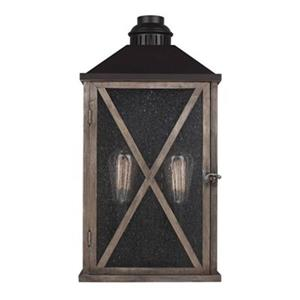 Feiss Lumiere 2-Light Outdoor Oil Rubbed Bronze Wall Sconce.