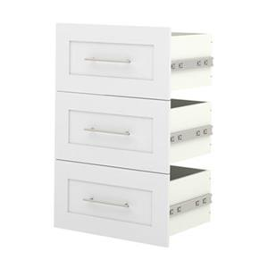 Bestar Pur 21-in White 3-Drawer Storage Unit