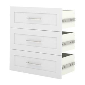Bestar Pur 32-in White 3-Drawer Storage Unit