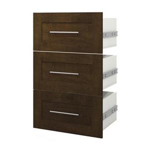 Bestar Pur 21-in Brown 3-Drawer Storage Unit
