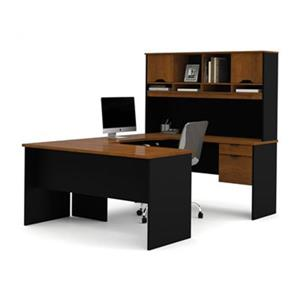 Bestar Innova 66.40-in x 59.80-in Tuscany U-Shaped Workstation