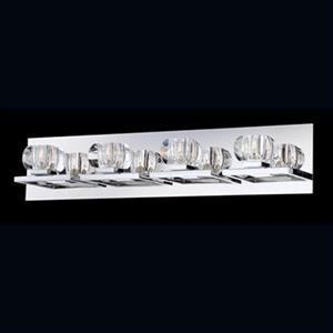 Eurofase Casa Chrome 4-Light Bathroom Vanity Light Bar