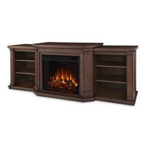 Real Flame Valmont Entertainment Center Electric Fireplace - Chestnut Oak