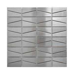 Modern Trapezoid Tile - Stainless Steel - 11-Pack.