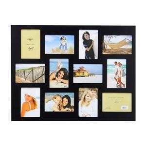 Nexxt Designs Napa 12 or 4-in x 6-in Openings Black Collage Picture Frame