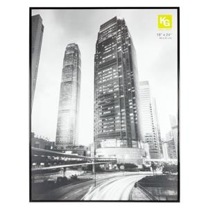 Nexxt Designs KG  Uptown Aluminum Poster Frame - 18-in x 24-in, Matte Black Finish, With Plexi Glass