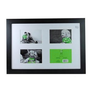 Nexxt Designs Langford 4 of 4-in x 6-in Openings Black Collage Picture Frame
