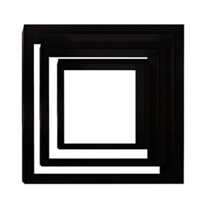 Nexxt Designs Cubbi Black Wall Shelves (Set of 3)
