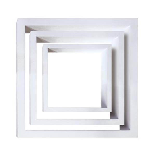 Nexxt Design Cubbi White Wood Wall Shelves (Set of 3)