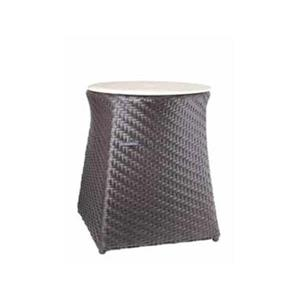 WS Bath Collections Complements Brown Laundry Hamper/Stool