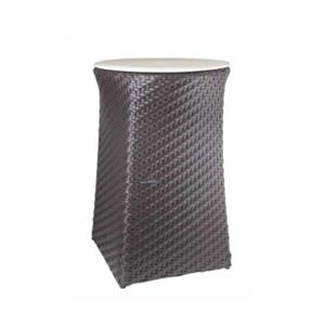 WS Bath Collections Complements Dark Brown Laundry Hamper/Stool