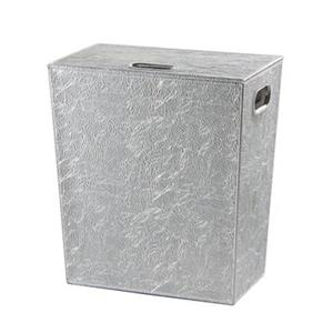WS Bath Collections Perle Complements Chrome Leather Laundry Hamper
