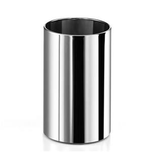 WS Bath Collections 12.60-in x 7.90-in Linea Stainless Steel Waste Basket