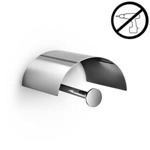 WS Bath Collections Duemila Polished Chrome  Self-Adhesive Toilet Paper Holder With Cover