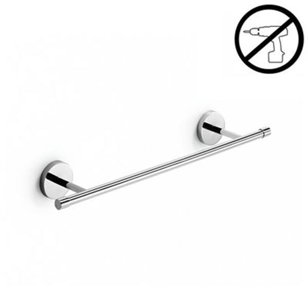 WS Bath Collections Duemila Glue 27.60-in Polished Chrome Self-Adhesive Towel Rail