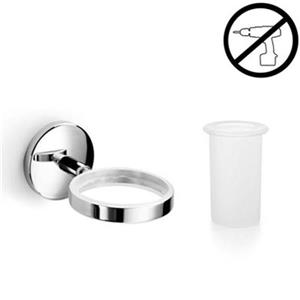 WS Bath Collections Spritz Self-Adhesive Single Holder With Tumbler