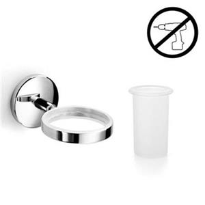 WS Bath Collections Noanta Self-Adhesive Single Holder With Tumbler