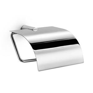 WS Bath Collections Picola 5253 Polished Chrome Toilet Paper Holder With Lid