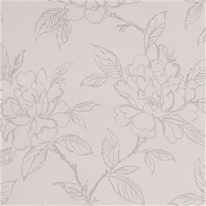 Graham & Brown 56 sq ft White Pearl Floral Bloom Unpasted Wallpaper