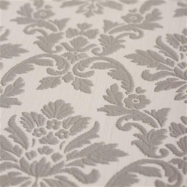 Graham & Brown56 sq ft Grey Renaissance Damask Unpasted Wallpaper