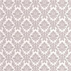 Graham & Brown56 sq ft Grey Renaissance Damask Unpasted Wallpaper